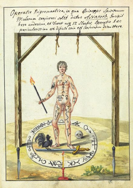 Occult Art: Necromantic Operation (Compendium Rarissimum, c. 1775). Fine Art Print/Poster (4780)